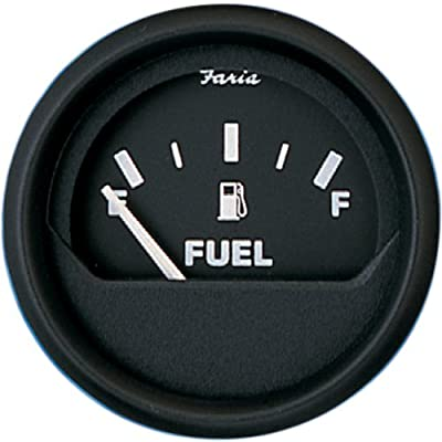 Faria 12801 Euro Fuel Level Gauge (3003.3421), Black: Automotive
