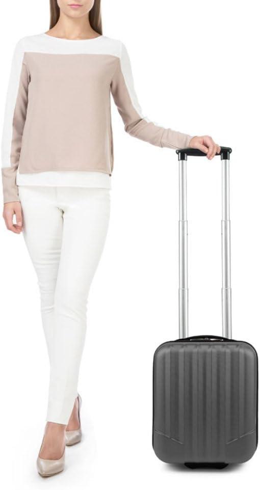 valise V25-10-232-10 Capacit/é: 25 L Coleur: Noir petite ABS chariot Dimension: 32 x 25 x 42 cm WITTCHEN Bagage /à main