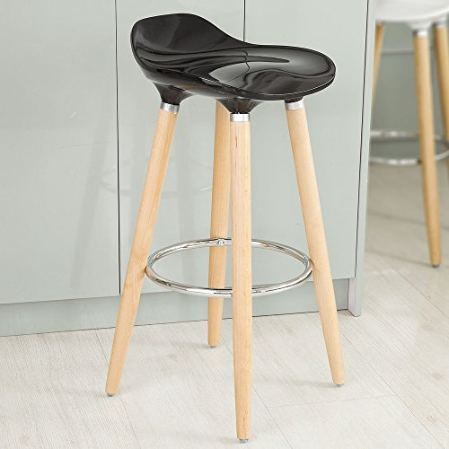Haotian ABS Plastic Bar Stool, Kitchen Breakfast Barstool with Wooden Legs (FST34-SCH)