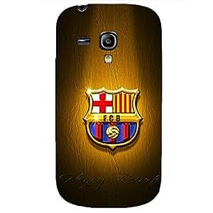 FC Barcelona Bright Metal Logo Great Hard Phone Case for Samsung Galaxy S3 Mini