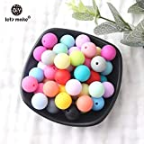 Pukido Let's Make 1000pc 12mm Silicone Round Beads BPA Free Silicone Teething Making Jewelry Necklace Beads Nursing Pendant - (Color: Mix)