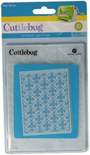 Fleur De Lis Provo Craft Cuttlebug A2 Embossing Folder