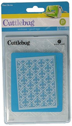 (Provo Craft Cuttlebug A2 Embossing Folder, Fleur De)