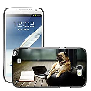 Hot Style Cell Phone PC Hard Case Cover // M00047234 pug tired pets animals // Samsung Galaxy Note 2 N7100