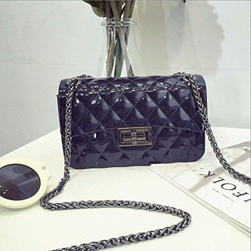 Gray Bolso Bolso GuoFeng Jalea Color de de de Dulce Mensajero Black Bolso Lingge Bolsa Hombro de de Nuevo la Cadena 4qqA5IwUx