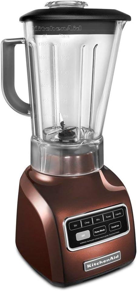 KitchenAid KSB650ER 5-Speed Blender with Die Cast Base and 56-oz. BPA-Free Pitcher, Espresso (Renewed)
