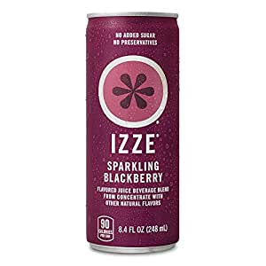 IZZE Fortified Sparkling Juice, Blackberry, Pack of 24, 8.4 oz Cans