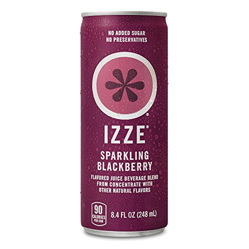 IZZE Sparkling Juice, Blackberry, 8.4 oz Cans, 24 Count