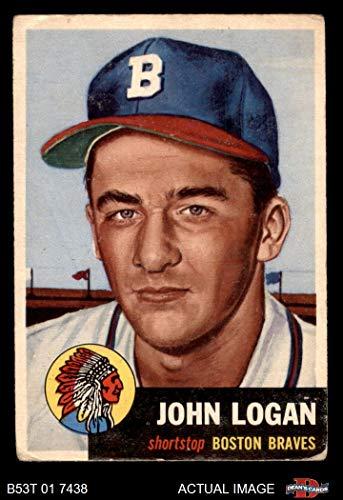 - 1953 Topps # 158 Johnny Logan Boston/Milwaukee Braves (Baseball Card) Dean's Cards 2 - GOOD Braves