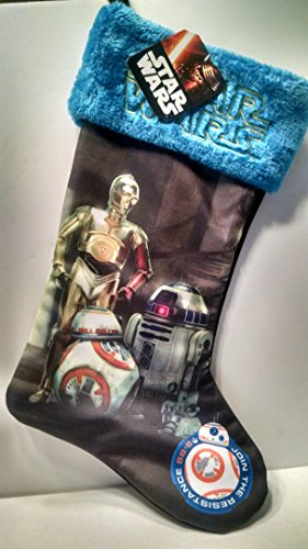 Star Wars The Force Awakens C3PO , R2D2, BB-8 Christmas Stocking