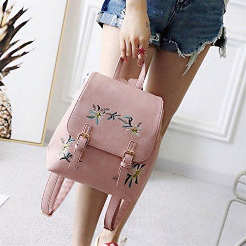 AAA226 - Bolso mochila  para mujer, caqui (verde) - F7B142716W6MVU5533 rosa