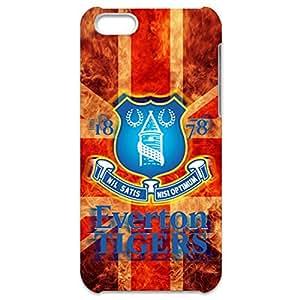 Custom Everton Football Club Design 3D Hard Plastic Case Cover For Iphone 5C