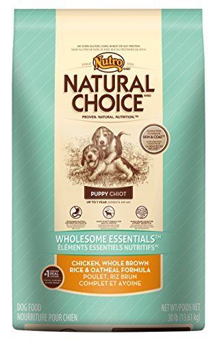 Nutro NATURAL CHOICE Chicken, Whole Brown Rice and Oatmeal Dry Puppy Food, 30 lbs.