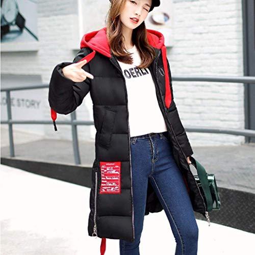 Bolawoo Cappotto Outdoor Incappucciato Manica Addensare Mode Cappotti Giaccone Caldo Marca Donna Di Lunga Trapuntato Prodotto Outwear Invernali Trapuntata Eleganti Giacca Schwarz Fashion Plus Qhsdtr