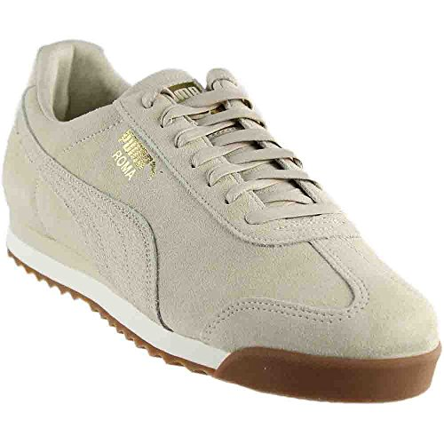 PUMA Men's Roma Natural Warmth Sneaker, Birch-Whisper White, 12 M US (Roma Suede Puma)