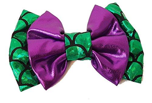(Aribella Collection Girls Little Mermaid Hair Clip Bow 4
