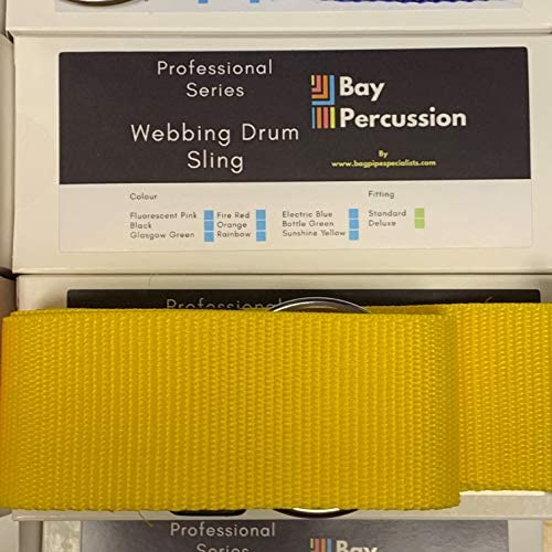 Bay Percussion Marching Drum Sling – Gelb (Rohrband, Flötenband, Messingband)