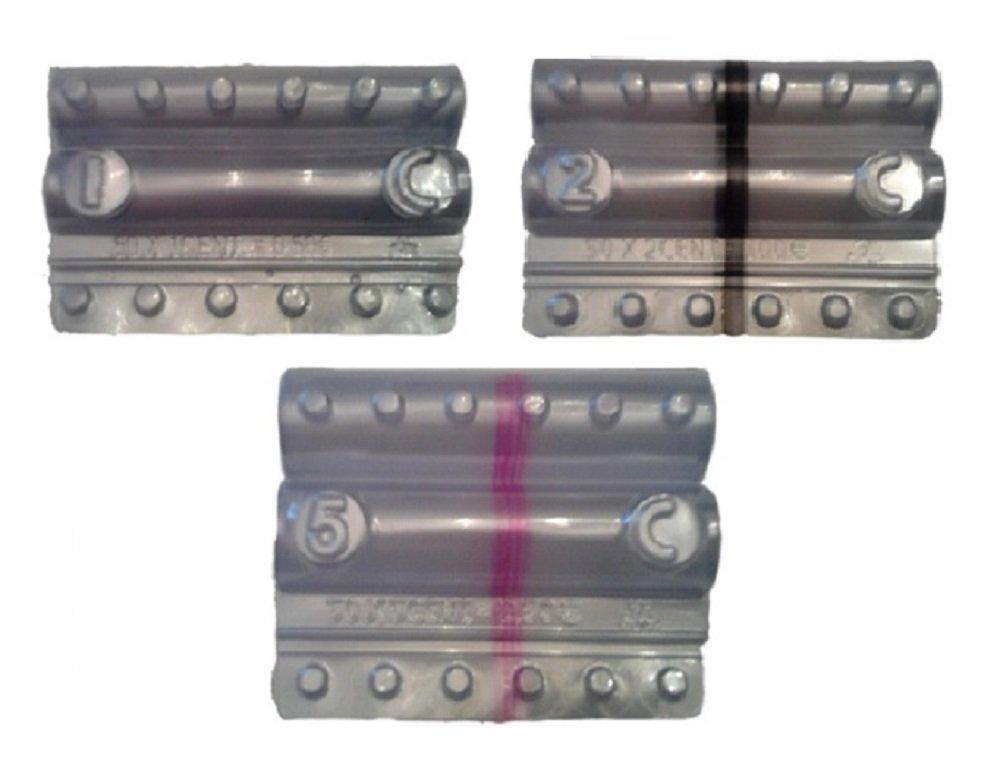 Blister per monete euro - Kit 300 blister portamonete misti da 1-2 - 5 centesimi (3 x 100) Iternet
