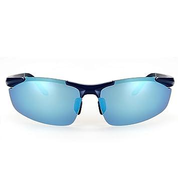 4a84fa22d1 fawova Gafas de Sol Deportivas Hombre Polarizadas,Gafas Running Hombre con  Espejada Azul Lentes, Gafas Polarizadas para Conducir Ciclismo UV400  Protección ...