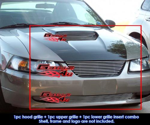 APS Fits 1999-2004 Ford Mustang GT V8 Billet Grille Grill Combo Insert - Billet Ford Mustang Grill Grille