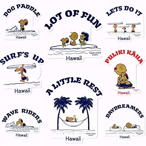 日焼けスヌーピー ステッカー 8種類セット モニ・ホノルル ハワイ限定