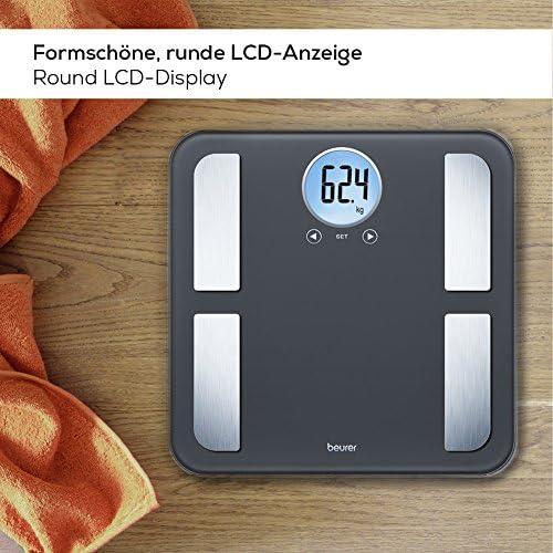 Fettanteil LCD Beurer BF 195 Diagnosewaage Körperanalysewaage Muskel