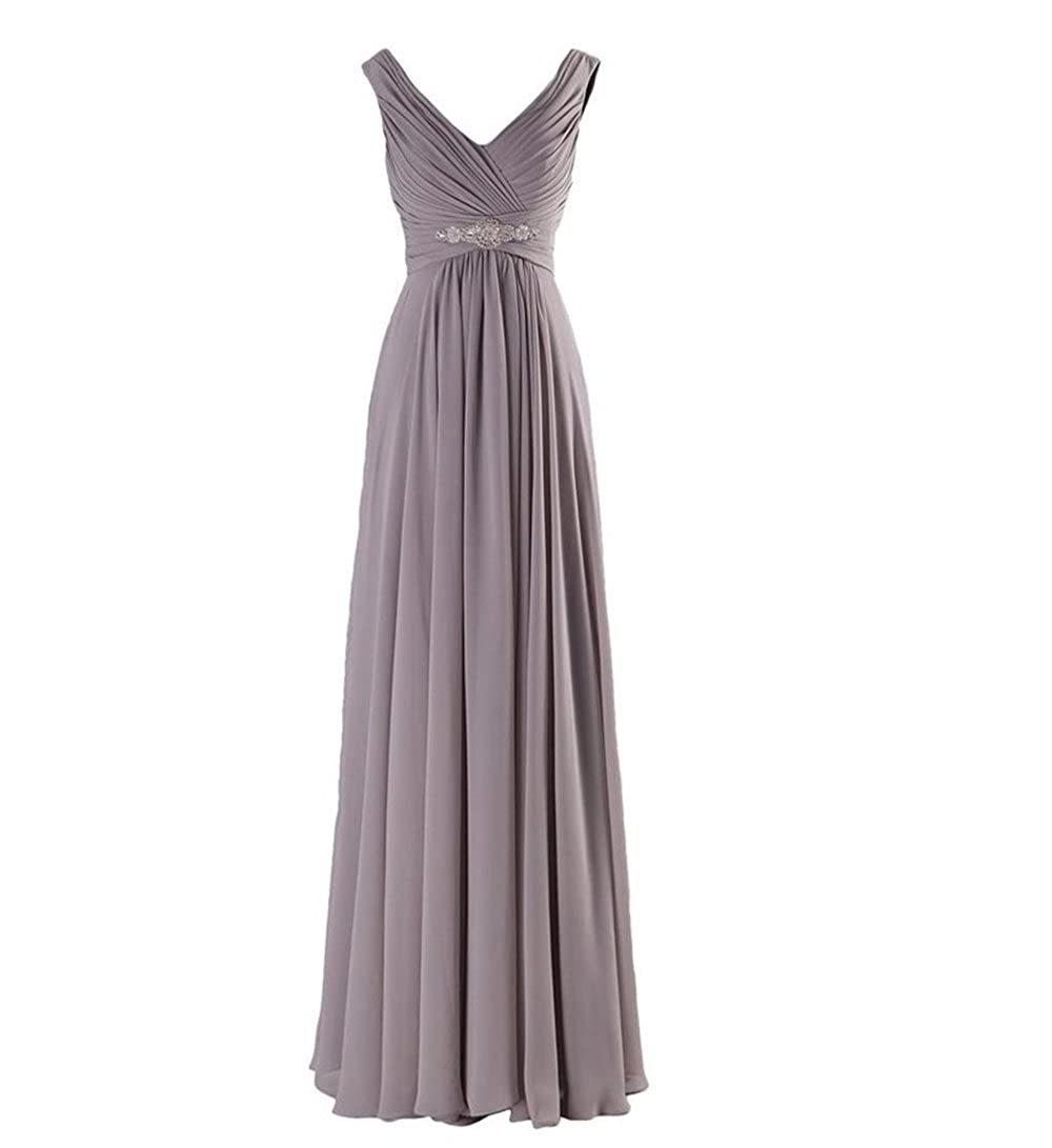 XGSD Womens Evening Dress Long Chiffon Evening Dress A-line Prom Bridesmaid Party Dress Vestidos de Novia at Amazon Womens Clothing store: