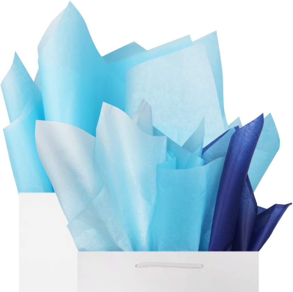 LIGHT BLUE Tissue Paper for Gift Wrapping 20x26 Solid Sheets Free Shipping! Your Choice of Quantity