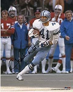 הגדול Charlie Waters Signed Photo - 8x10 - Autographed NFL Photos at VM-55
