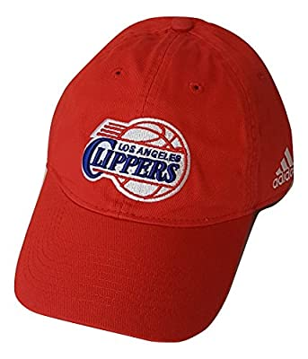 LA Clippers adidas Basics Slouch Adjustable Hat - Red by adidas