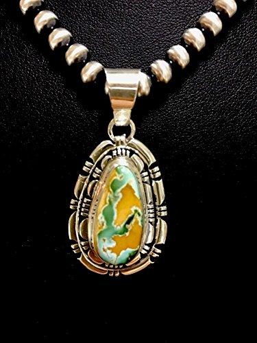 Royston Turquoise Pendant (Native American Sterling Silver Royston Turquoise Necklace Pendant T)