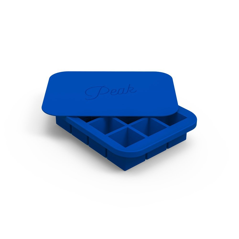 f8c2dd4a2 W&P WP-ICE-ED-BL2 Peak Ice Works Everyday Silicone Ice Tray, BPA Free,  Dishwasher Safe, Royal Blue