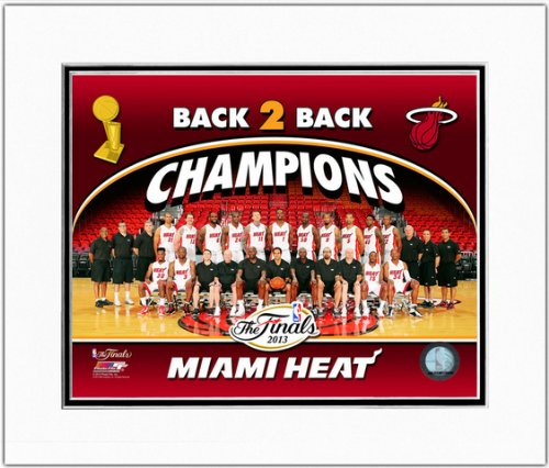 Ray Allen Matted Photo - Miami Heat 2013 NBA Champions Formal Team Photo 11x14 Matted