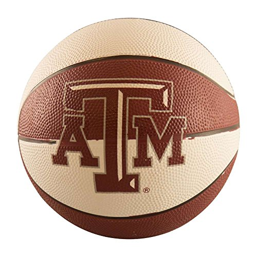 Logo Brands NCAA Texas A&M Aggies Mini Size Rubber Basketball, Brown by Logo Brands