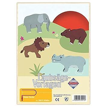 Matches21 Wildtiere Tiere Holz Laubsägevorlagen Din A4 Holzvorlagen