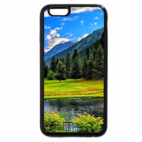 iPhone 6S / iPhone 6 Case (Black) Lovely mountain place