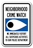 """12"""" X 18"""" ALUMINUM SIGN FOR CRIME WATCH"""