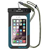 MOSSLIAN Waterproof Case, Waterproof Case Pouch for iPhone 6s, iPhone 6s Plus, SE, iPhone 6/5/4, Samsung Gaxaly Note 5/4/3/2, S6 Edge, S6, S5, S4, HTC, LG, Huawei and other upto 6 Inch.