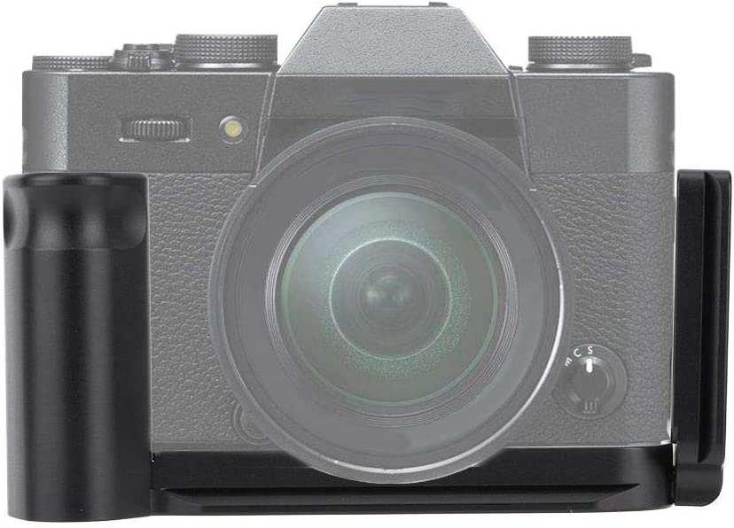 L Shape Bracket Quick Release Plate Aluminum Alloy Hand Grip for Fuji XT10 XT20 XT30 Camera,Hollow Design with 1//4 inch Screw 39mm AS Interface