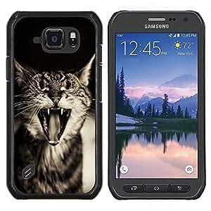 Stuss Case / Funda Carcasa protectora - Cute Cat Sleepy divertido - Samsung Galaxy S6 Active G890A