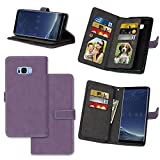 galaxy s ii cover - IVY Wallet Galaxy S8 Plus Case with Kickstand Feature and Matte Texture Design For Samsung Galaxy S 8 Plus SM-G955 PU Leathet Flip Cover [9 Card Slot Holder][2 Photo Album] Magnetic Closure - Purple