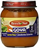 Beech Nut Stage 2 Goya Jar, Carrots and Peas, 4 Ounce (Pack of 10)