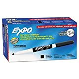 EXPO Low-Odor Dry Erase Markers, Fine Point, Black, 12-Count