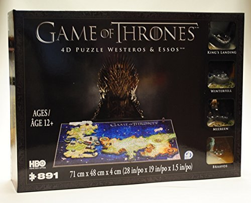 Game of Thrones 4D Puzzle of Westeros & Essos ()