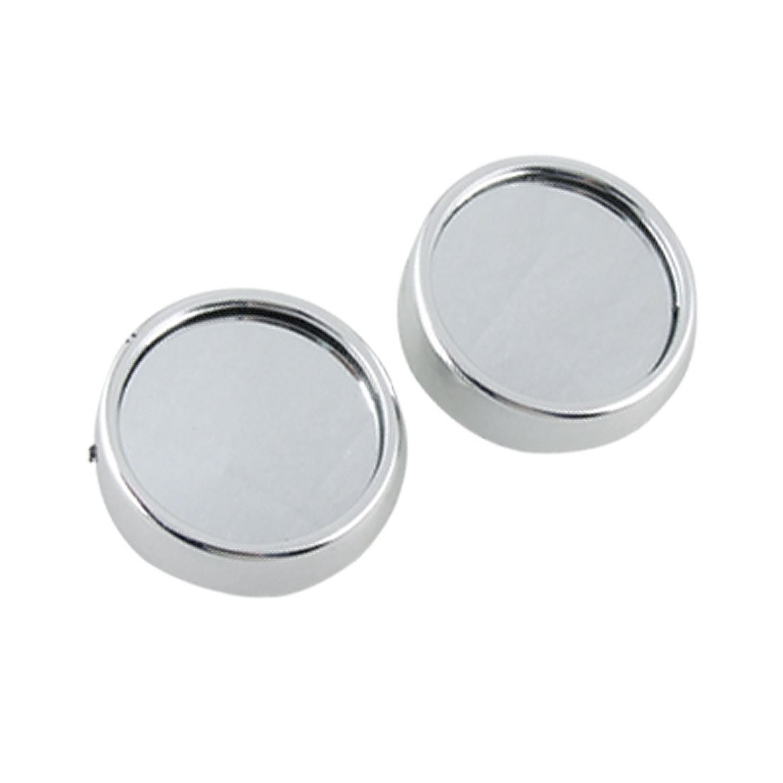 uxcell® 2pcs Silver Tone Car Side View Round Convex Rearview Blind Spot Mirrors