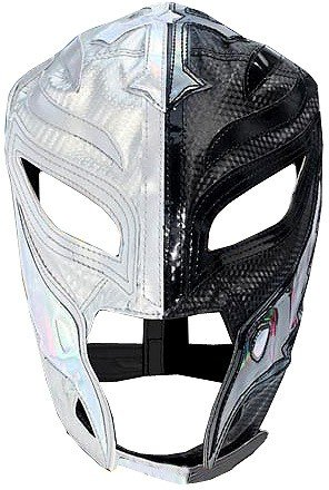 sterio Replica Mask [Youth, Silver & Black] (Rey Mysterio Wrestling Mask)