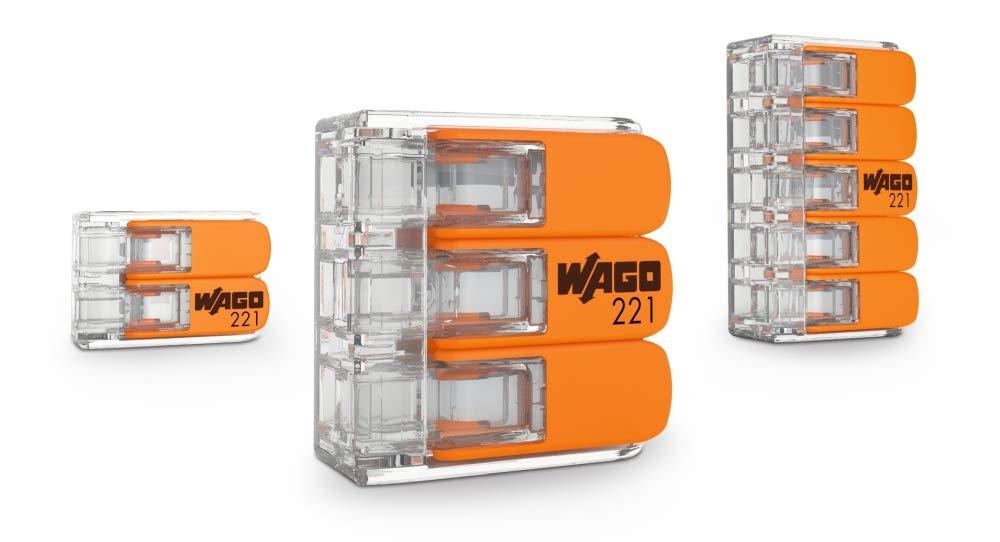 Terminal de conexi/ón de 3 conductores con palanca de accionamiento WAGO-COMPACT 221-613 cable de hasta 6 mm2