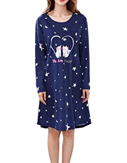 0bae38b7b3 Vopmocld Big Gilrs Lovely Cats Patterns Nightgown Heart Shapes Star Print  Nightdress