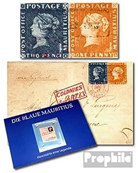 sellos para coleccionistas: mauricio (Reino Unido. colonia) mauricio Folder matasellado con burdeos-carta: Amazon.es: Juguetes y juegos