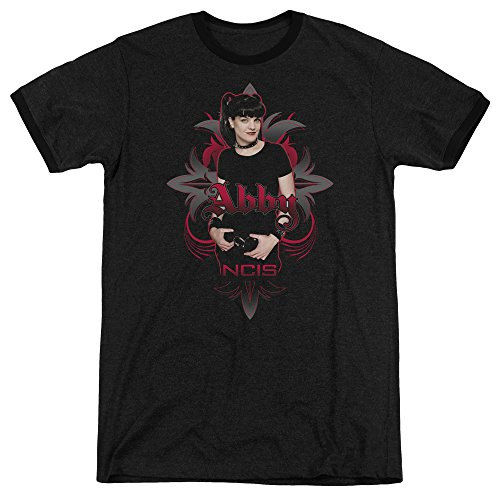 (NCIS Abby Gothic Unisex Adult Ringer T Shirt for Men and Women, X-Large Black)
